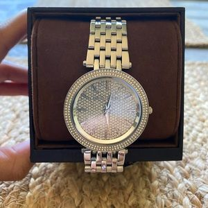 Stainless Steel Silver Michael Kors watch.